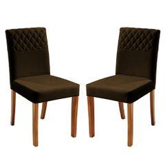 Kit-2-Cadeiras-de-Jantar-Estofada-Marrom-em-Veludo-Yarim