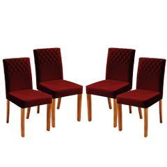 Kit-4-Cadeiras-de-Jantar-Estofada-Bordo-em-Veludo-Yarim