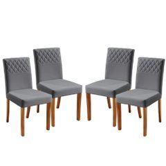 Kit-4-Cadeiras-de-Jantar-Estofada-Cinza-em-Veludo-Yarim