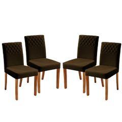 Kit-4-Cadeiras-de-Jantar-Estofada-Marrom-em-Veludo-Yarim