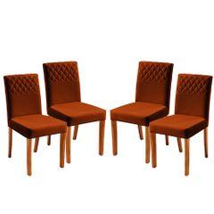 Kit-4-Cadeiras-de-Jantar-Estofada-Ocre-em-Veludo-Yarim