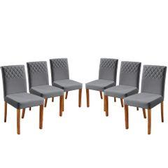 Kit-6-Cadeiras-de-Jantar-Estofada-Cinza-em-Veludo-Yarim