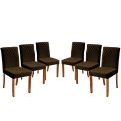 Kit-6-Cadeiras-de-Jantar-Estofada-Marrom-em-Veludo-Yarim
