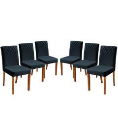 Kit-6-Cadeiras-de-Jantar-Estofada-Azul-em-Veludo-Yarim