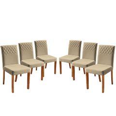 Kit-6-Cadeiras-de-Jantar-Estofada-Bege-em-Veludo-Yarim