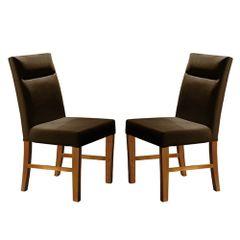 Kit-2-Cadeiras-de-Jantar-Estofada-Marrom-em-Veludo-Yastik