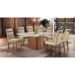 Kit-2-Cadeiras-de-Jantar-Estofada-Bege-em-Veludo-Yastik---Ambiente