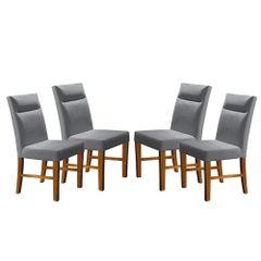 Kit-4-Cadeiras-de-Jantar-Estofada-Cinza-em-Veludo-Yastik