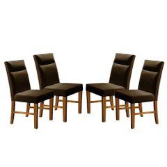 Kit-4-Cadeiras-de-Jantar-Estofada-Marrom-em-Veludo-Yastik
