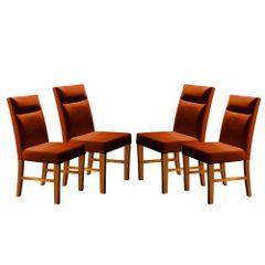 Kit-4-Cadeiras-de-Jantar-Estofada-Ocre-em-Veludo-Yastik