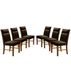 Kit-6-Cadeiras-de-Jantar-Estofada-Marrom-em-Veludo-Yastik