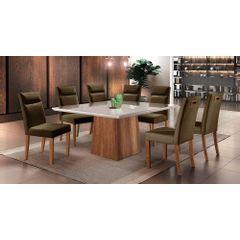 Kit-6-Cadeiras-de-Jantar-Estofada-Marrom-em-Veludo-Yastik---Ambiente