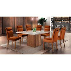 Kit-6-Cadeiras-de-Jantar-Estofada-Ocre-em-Veludo-Yastik---Ambiente