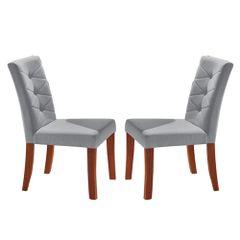 Kit-2-Cadeiras-de-Jantar-Estofada-Cinza-em-Veludo-Sirt