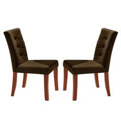 Kit-2-Cadeiras-de-Jantar-Estofada-Marrom-em-Veludo-Sirt