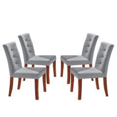 Kit-4-Cadeiras-de-Jantar-Estofada-Cinza-em-Veludo-Sirt