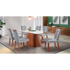 Kit-4-Cadeiras-de-Jantar-Estofada-Cinza-em-Veludo-Sirt---Ambiente