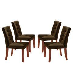 Kit-4-Cadeiras-de-Jantar-Estofada-Marrom-em-Veludo-Sirt