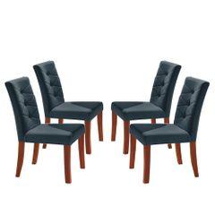 Kit-4-Cadeiras-de-Jantar-Estofada-Azul-em-Veludo-Sirt
