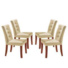 Kit-4-Cadeiras-de-Jantar-Estofada-Bege-em-Veludo-Sirt