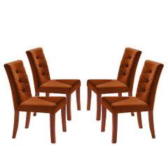 Kit-4-Cadeiras-de-Jantar-Estofada-Ocre-em-Veludo-Sirt