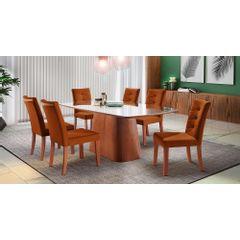 Kit-4-Cadeiras-de-Jantar-Estofada-Ocre-em-Veludo-Sirt---Ambiente