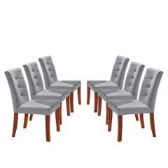 Kit-6-Cadeiras-de-Jantar-Estofada-Cinza-em-Veludo-Sirt
