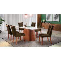 Kit-6-Cadeiras-de-Jantar-Estofada-Marrom-em-Veludo-Sirt---Ambiente