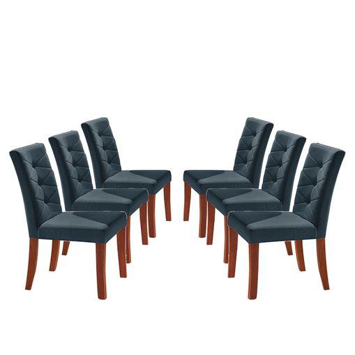 Kit-6-Cadeiras-de-Jantar-Estofada-Azul-em-Veludo-Sirt
