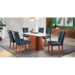 Kit-6-Cadeiras-de-Jantar-Estofada-Azul-em-Veludo-Sirt---Ambiente