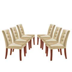 Kit-6-Cadeiras-de-Jantar-Estofada-Bege-em-Veludo-Sirt