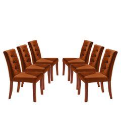 Kit-6-Cadeiras-de-Jantar-Estofada-Ocre-em-Veludo-Sirt