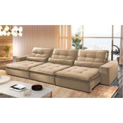 Sofa-Retratil-e-Reclinavel-6-Lugares-Bege-380m-Nouvel---Ambiente