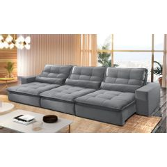 Sofa-Retratil-e-Reclinavel-6-Lugares-Cinza-380m-Nouvel---Ambiente