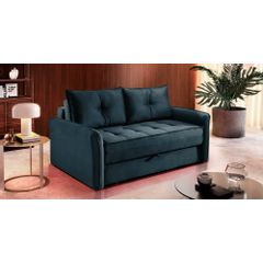 Sofa-Cama-2-Lugares-Azul-em-Veludo-161m-Colmar---Ambiente