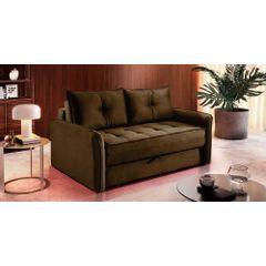 Sofa-Cama-2-Lugares-Marrom-em-Veludo-161m-Colmar---Ambiente