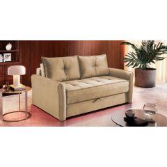 Sofa-Cama-2-Lugares-Bege-em-Veludo-161m-Colmar---Ambiente