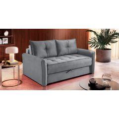Sofa-Cama-2-Lugares-Cinza-em-Veludo-161m-Colmar---Ambiente