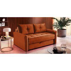 Sofa-Cama-2-Lugares-Ocre-em-Veludo-161m-Colmar---Ambiente