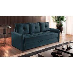 Sofa-Cama-3-Lugares-Azul-em-Veludo-213m-Bled---Ambiente