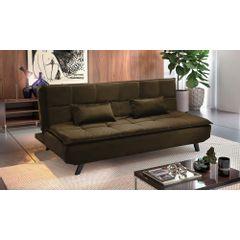 Sofa-Cama-3-Lugares-Marrom-em-Veludo-189m-Haas---Ambiente