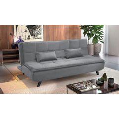 Sofa-Cama-3-Lugares-Cinza-em-Veludo-189m-Haas---Ambiente