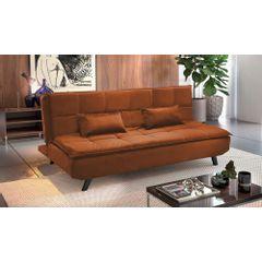 Sofa-Cama-3-Lugares-Ocre-em-Veludo-189m-Haas---Ambiente