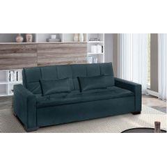 Sofa-Cama-3-Lugares-Azul-em-Veludo-217m-Burano---Ambiente