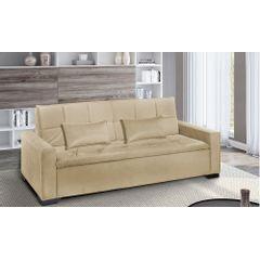 Sofa-Cama-3-Lugares-Bege-em-Veludo-217m-Burano---Ambiente