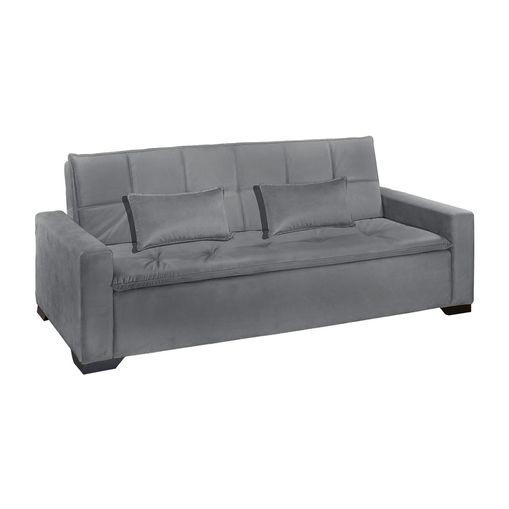 Sofa-Cama-3-Lugares-Cinza-em-Veludo-217m-Burano