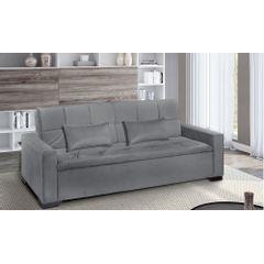 Sofa-Cama-3-Lugares-Cinza-em-Veludo-217m-Burano---Ambiente