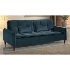 Sofa-Cama-3-Lugares-Azul-em-Veludo-210m-Roisey---Ambiente
