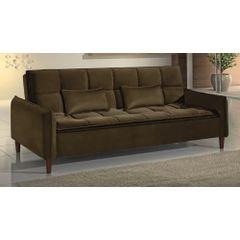 Sofa-Cama-3-Lugares-Marrom-em-Veludo-210m-Roisey---Ambiente