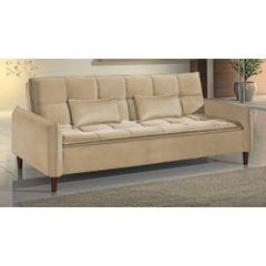 Sofa-Cama-3-Lugares-Bege-em-Veludo-210m-Roisey---Ambiente